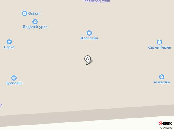 Парковый на карте Перми