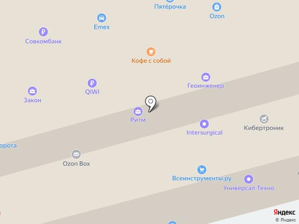 Олми на карте Перми