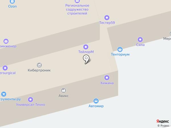 Камена на карте Перми