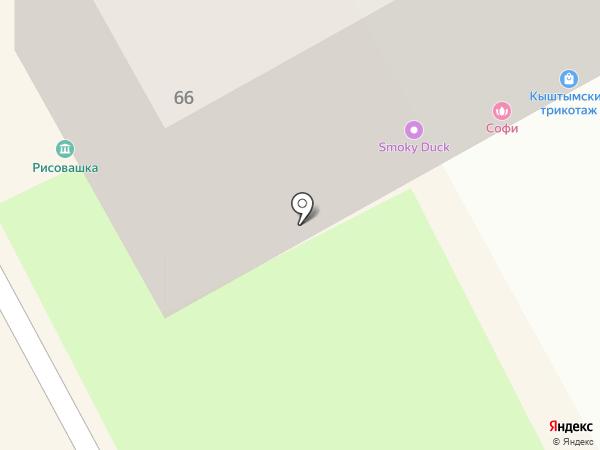 Верблюжонок на карте Перми