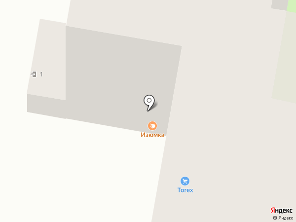 Изюмка на карте Перми