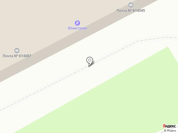 Почтовое отделение №45 на карте Перми