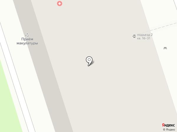 Поликлиника №4 на карте Перми
