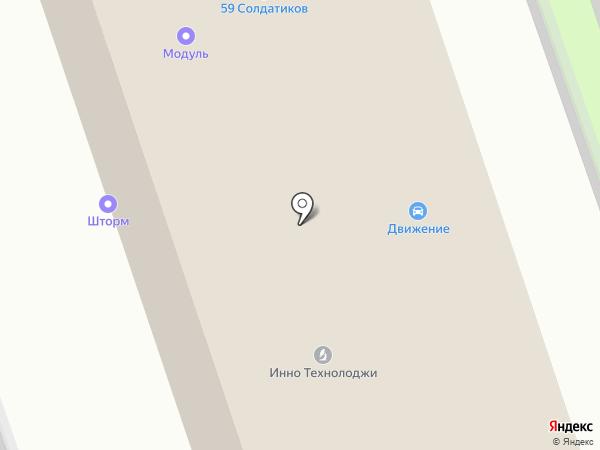 Модуль на карте Перми