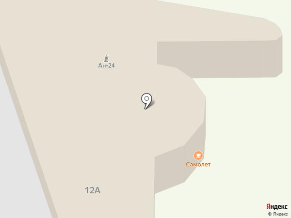 Ан-24 на карте Перми