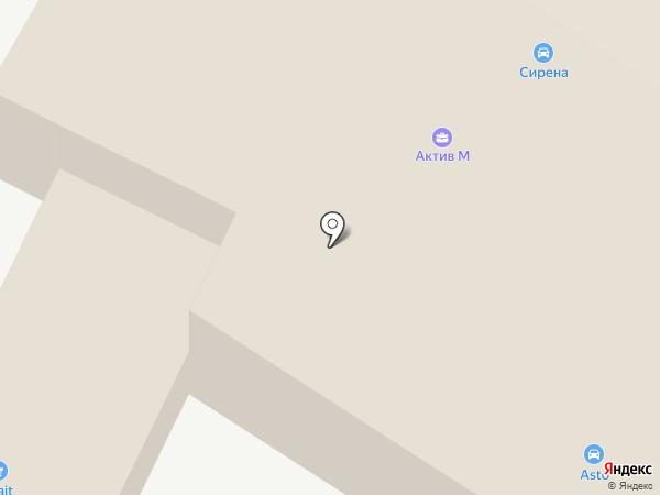 Актив М на карте Перми