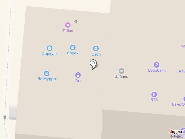 Карандаш красный на карте Перми