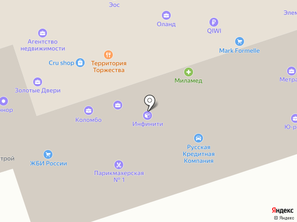 Квадрат на карте Перми