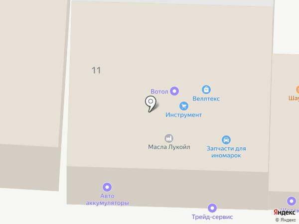 Автоаккумуляторы на карте Перми