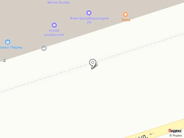 Зира на карте Перми