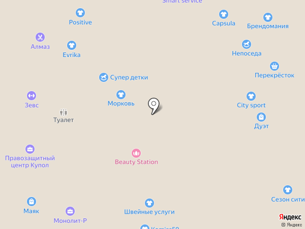 Klasika moda на карте Перми