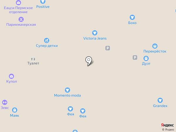 Evrika на карте Перми