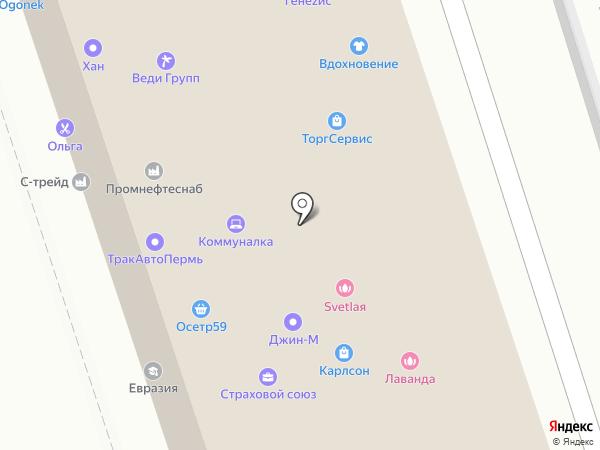 Джин-М на карте Перми