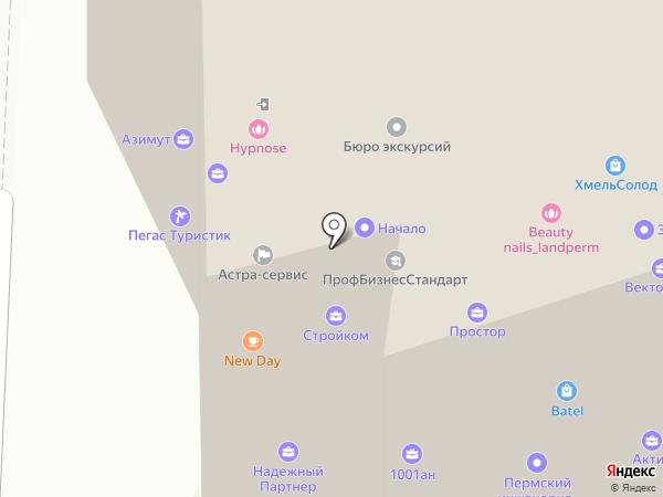 Золотое кольцо на карте Перми
