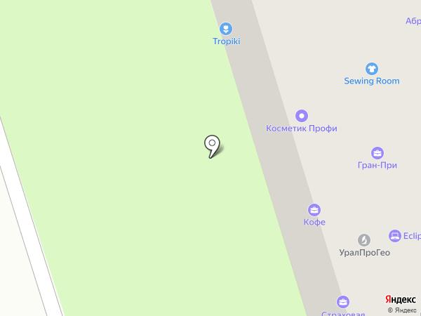 Зеленый шар на карте Перми