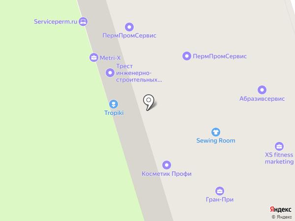 Уралэнергострой на карте Перми