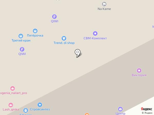 Коррект на карте Перми