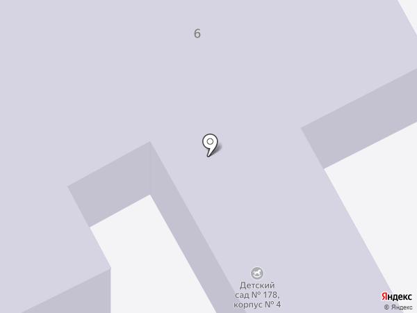 Детский сад №178 на карте Перми