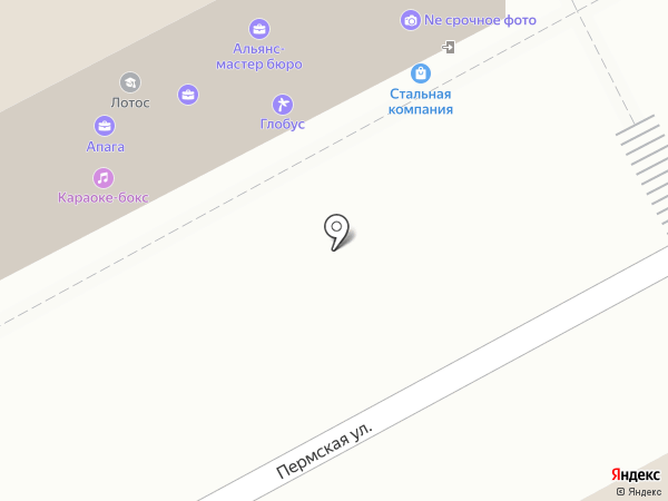 Агентство межевания на карте Перми