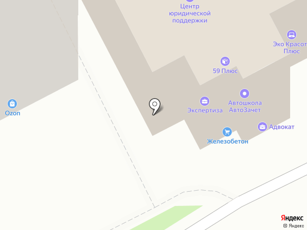 Сбережение, КПК на карте Перми