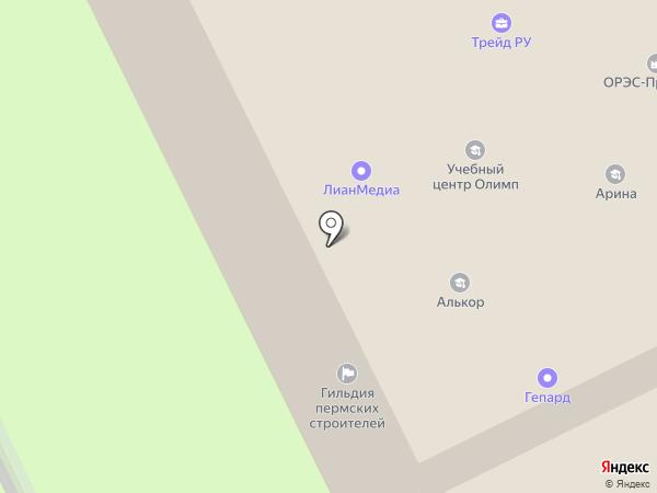 Пермгражданпроект на карте Перми