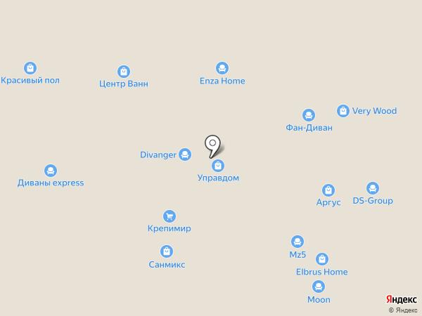 Фан-Диван на карте Перми