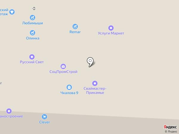 Магазин Волгоградского трикотажа на карте Перми
