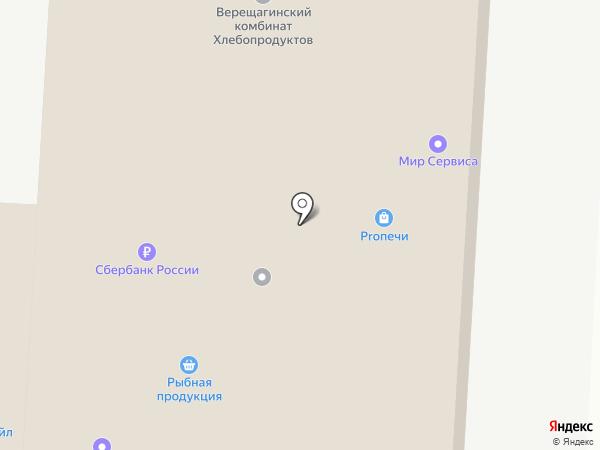 Гамма на карте Перми