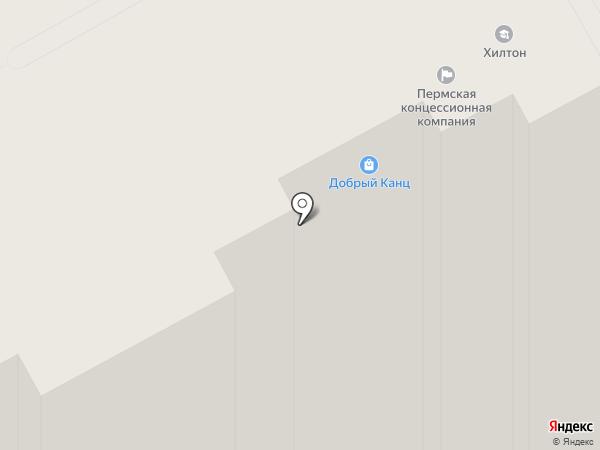 Глобус на карте Перми