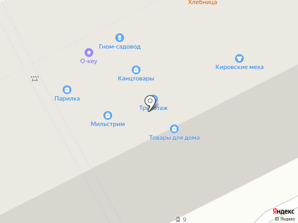 Магазин смешанных товаров на карте Перми