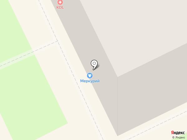 Силуэт на карте Перми