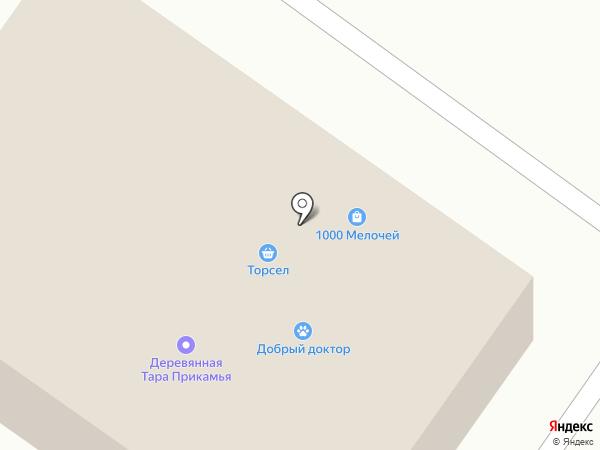 Торсел на карте Лобаново