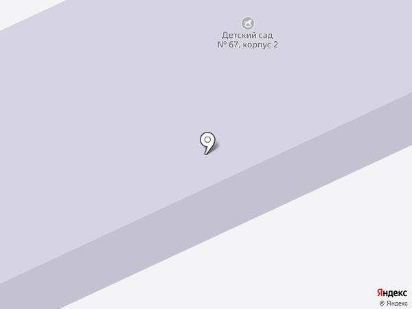 Детский сад №67 на карте Перми
