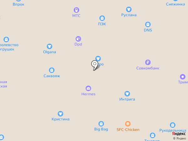 Сеть магазинов бижутерии на карте Перми
