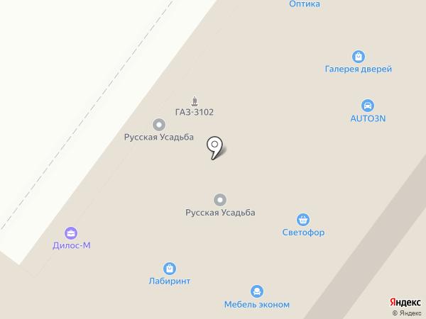 Кабинет массажа на карте Перми