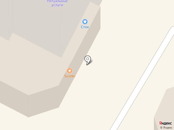 Магазин стоковой одежды на карте Перми
