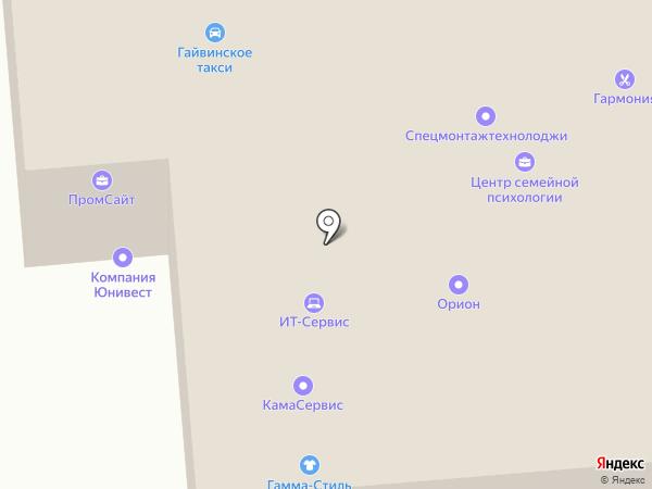 Юнивест на карте Перми