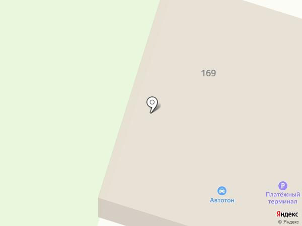 Автотон на карте Перми