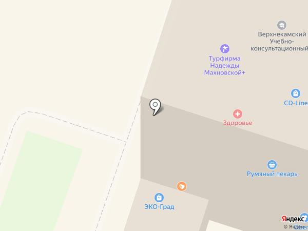 Дизайн-град на карте Березников