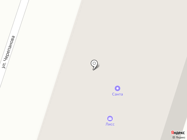 Санта на карте Березников