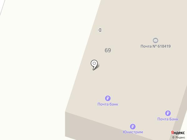 Почтовое отделение №19 на карте Березников