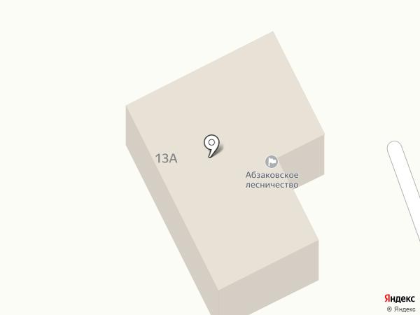 Абзаковское участковое лесничество на карте Абзаково
