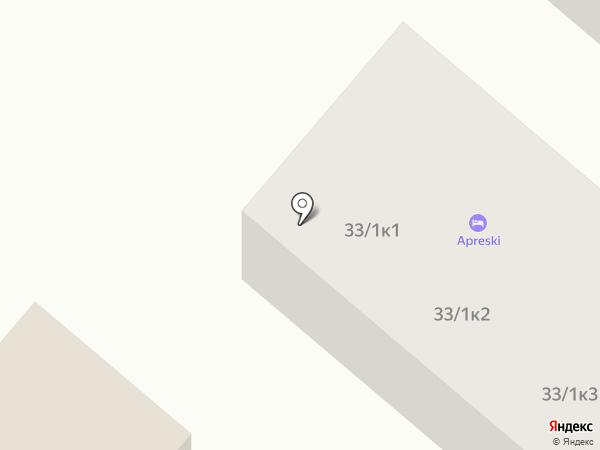 Apreski Бунгало на Банном на карте Зелёной Поляны