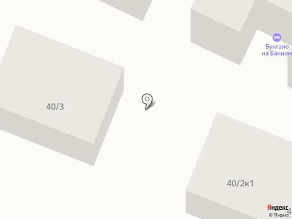 Бунгало на Солнечной на карте Зелёной Поляны