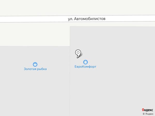 Золотая рыбка на карте Магнитогорска