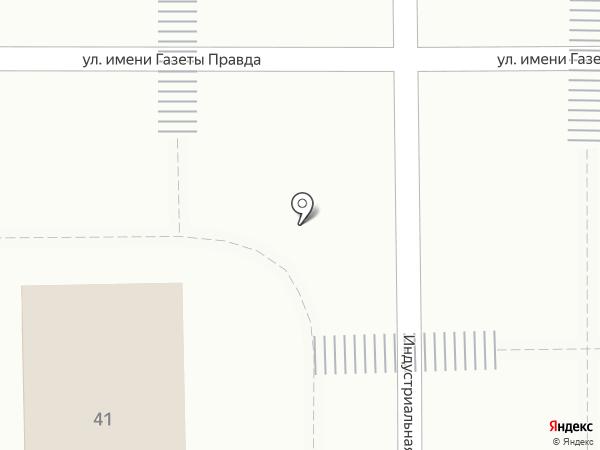 Киоск по продаже хлебобулочных изделий на карте Магнитогорска