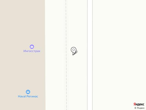 Регинас на карте Магнитогорска