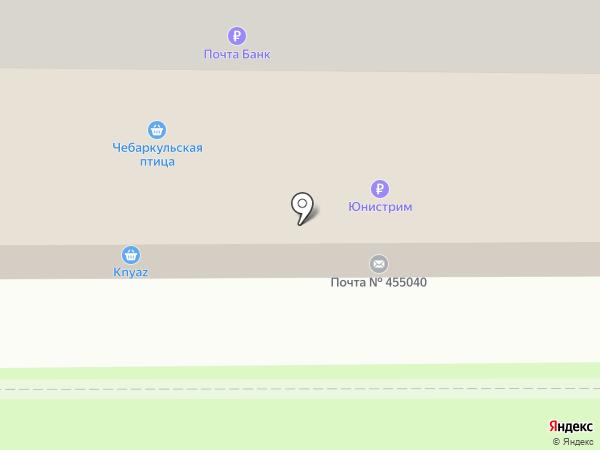 Продовольственный магазин на карте Магнитогорска