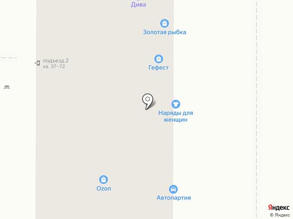 Елен на карте Магнитогорска