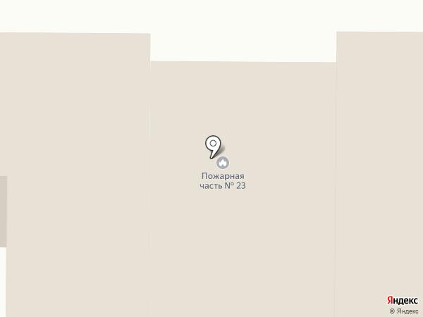 Пожарно-спасательная часть №23 на карте Магнитогорска